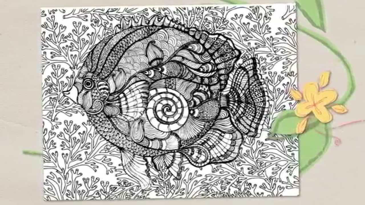 Coloriage Zen N°4 - Teaser 4 - Poissons - serapportantà Coloriage À Gratter Adulte