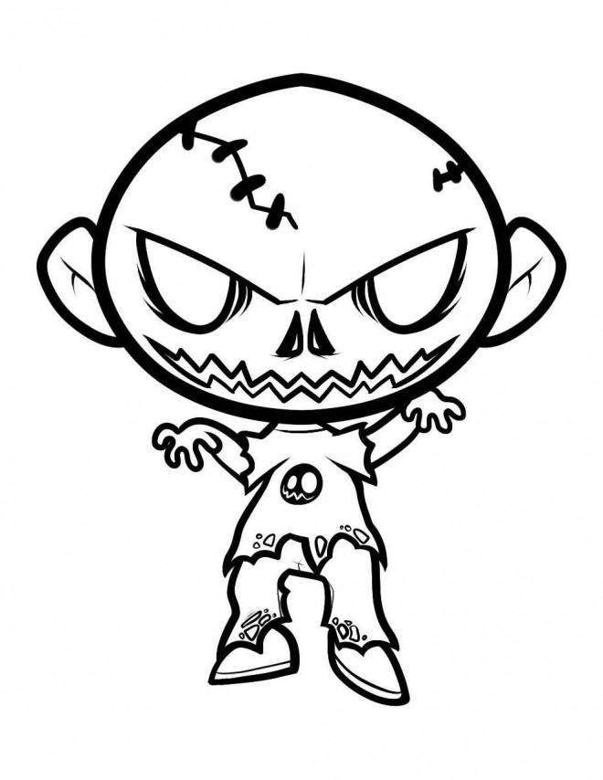 Coloriage Zombie Bébé Dessin Gratuit À Imprimer encequiconcerne Zombie Qui Fait Peur