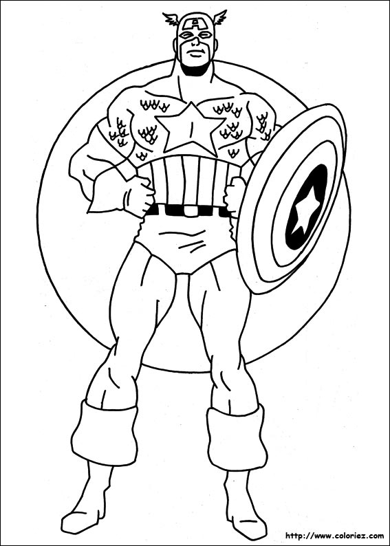 Coloriage204: Coloriage Captain America à Coloriage Captain America