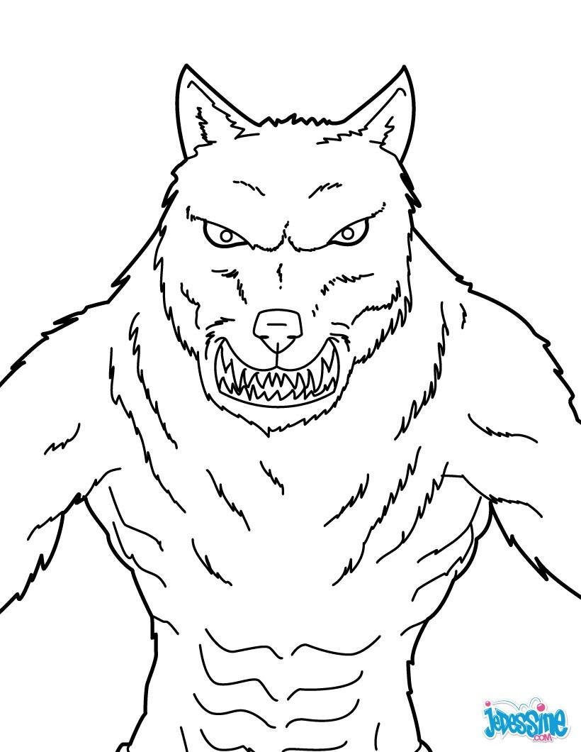 Coloriage204: Coloriage De Loup Garou intérieur Coloriage Mini Loup A Imprimer Gratuit