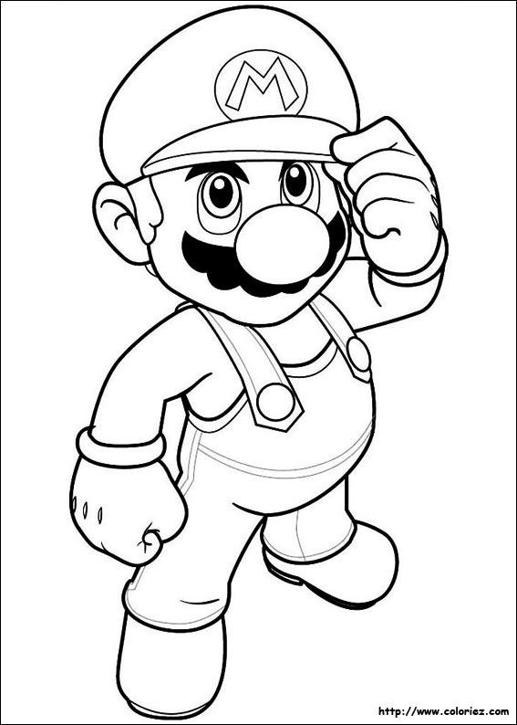Coloriage204: Coloriage De Mario A Imprimer pour Coloriage De Mario Et Luigi