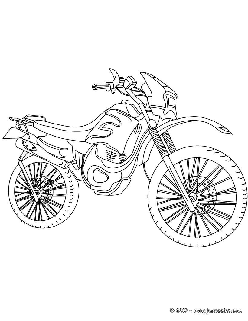 Coloriage204: Coloriage De Moto Cross A Imprimer encequiconcerne Moto Cross À Colorier