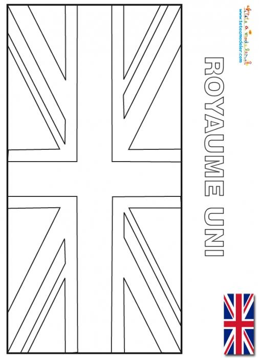 Coloriage204: Coloriage Drapeau Anglais pour Dessin De L Angleterre