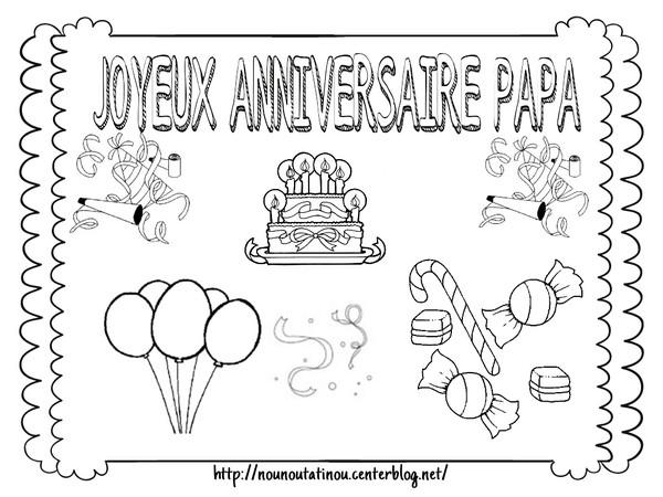 Coloriage204: Coloriage Joyeux Anniversaire Papa encequiconcerne Dessin Pour Anniversaire Papa