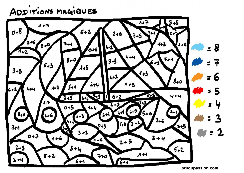 Coloriage204: Coloriage Magique Calcul Cp avec Coloriage Magique Ce1 Maths