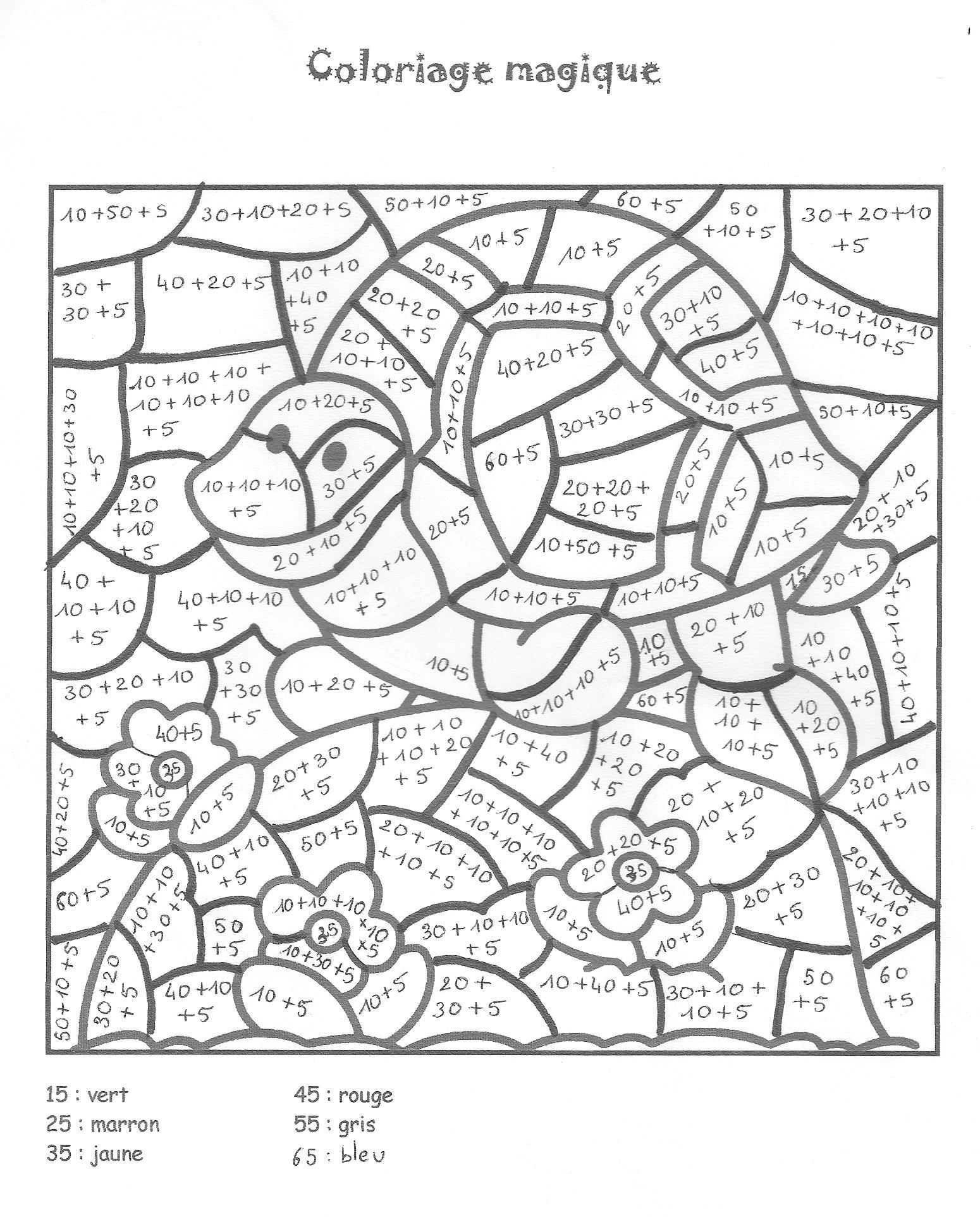 Coloriage204: Coloriage Magique Ce2 Multiplication dedans Coloriage Magique Gratuit