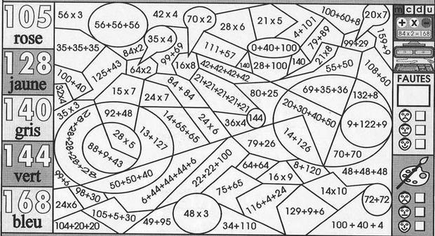 Coloriage204: Coloriage Magique Cm1 Maths tout Coloriage Avec Calcul