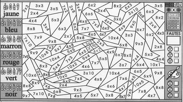 Coloriage204: Coloriage Magique Multiplication Cm1 destiné Coloriage Magique A Imprimer