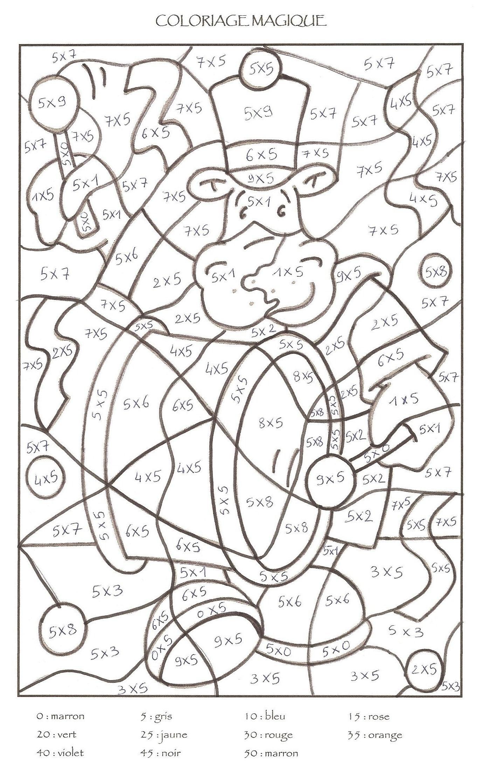 Coloriage204: Coloriage Magique Noel Ce1 avec Coloriage Magique Gs À Imprimer