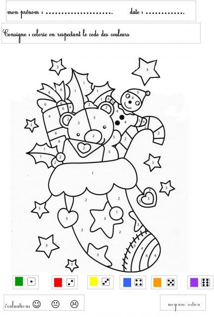 Coloriage204: Coloriage Magique Noel Maternelle à Coloriage Magique Grande Section Maternelle