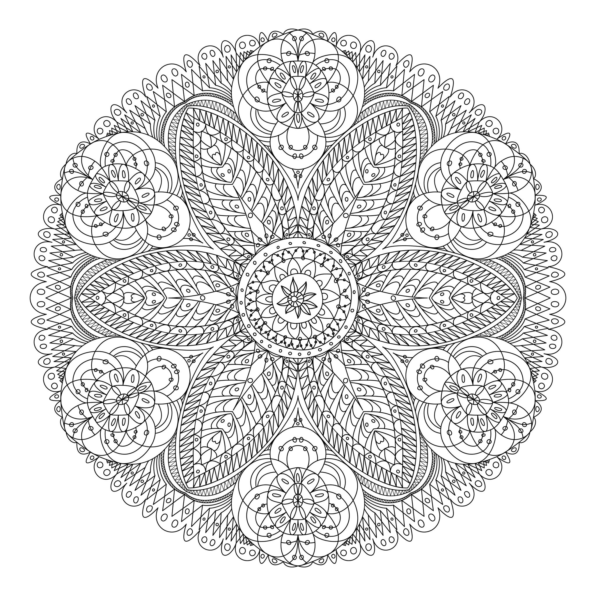 Coloriage204: Coloriage Mandala Adulte encequiconcerne Coloriage Adultes À Imprimer