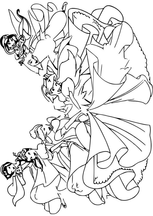 Coloriage204: Coloriage Princesse Disney Gratuit avec Coloriage De Princesses Disney A Imprimer