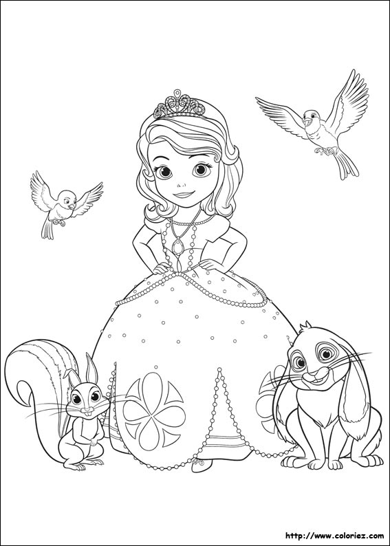 Coloriage204: Coloriage Princesse Sofia En Ligne destiné Coloriage Princesse Sofia À Imprimer