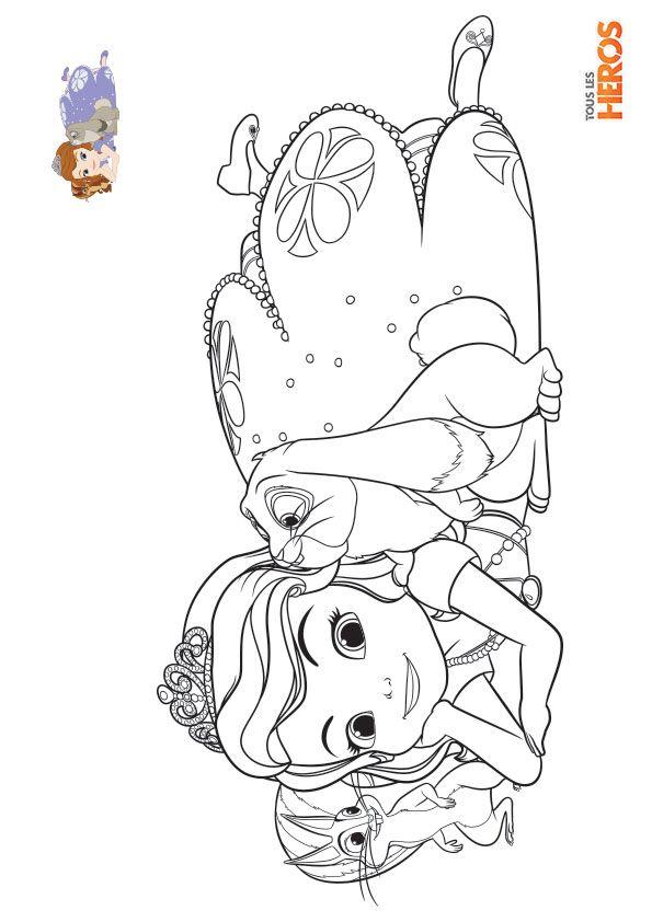 Coloriage_Sofia-La-Princesse2 595×842 Pixels | Disney encequiconcerne Dessin À Imprimer Princesse Disney
