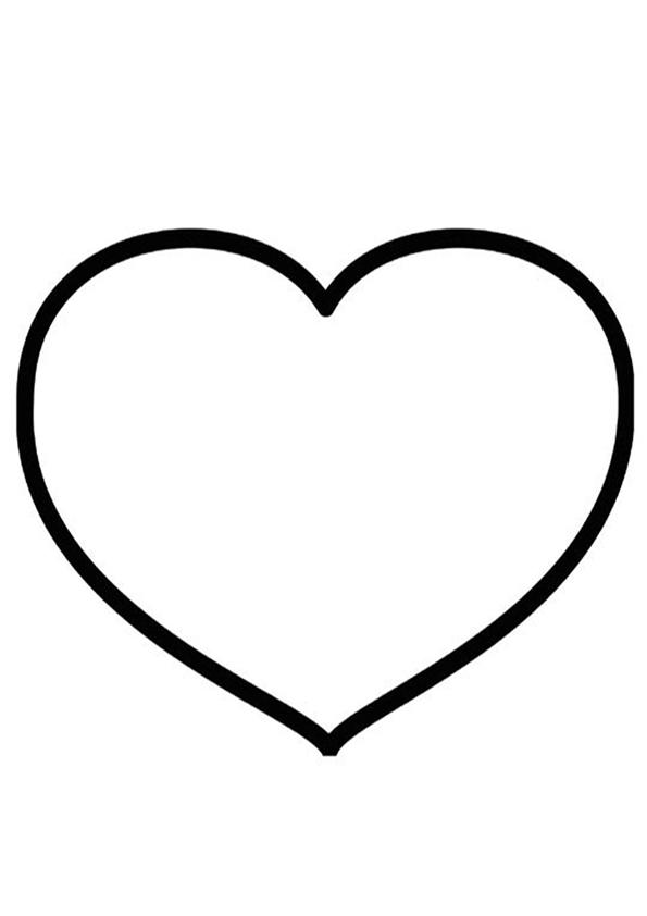 Coloriages À Imprimer : Coeur, Numéro : 146104 pour Dessin A Imprimer Coeur