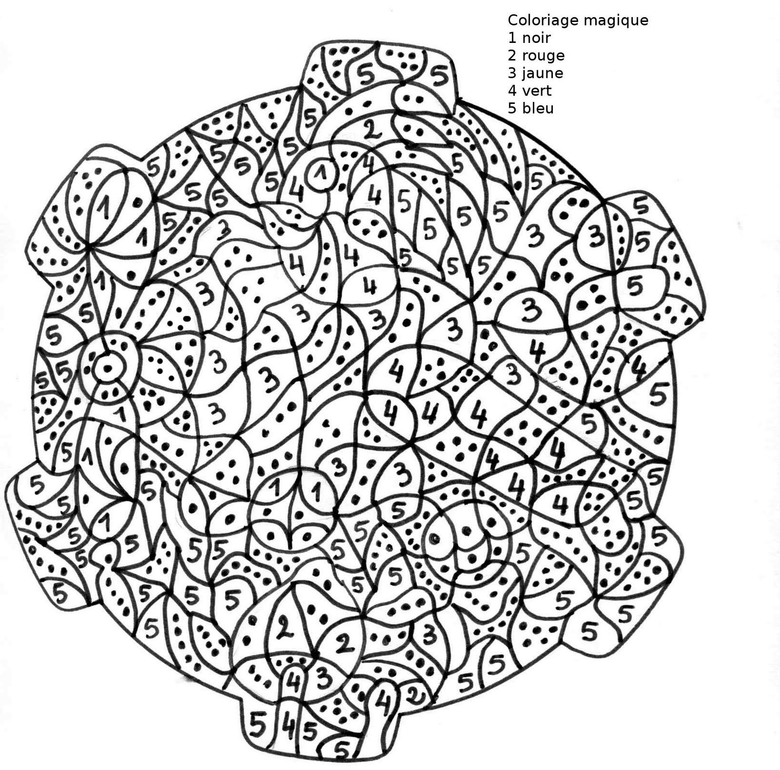 Coloriages À Imprimer : Coloriages Magiques, Numéro : 576037 destiné Coloriage À Chiffre A Imprimer