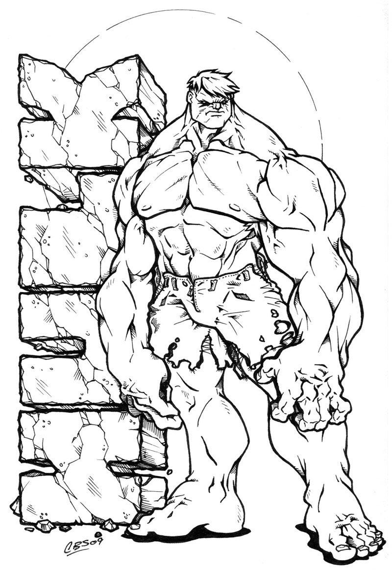 Coloriages À Imprimer : Hulk, Numéro : 755311 pour Coloriage Hulk