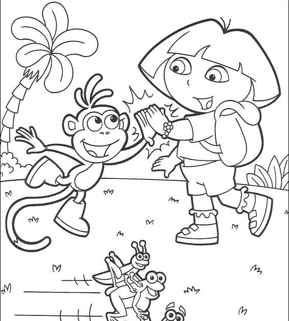 Dessin A Colorier Dora Gratuit A Imprimer - GreatestColoringBook.com