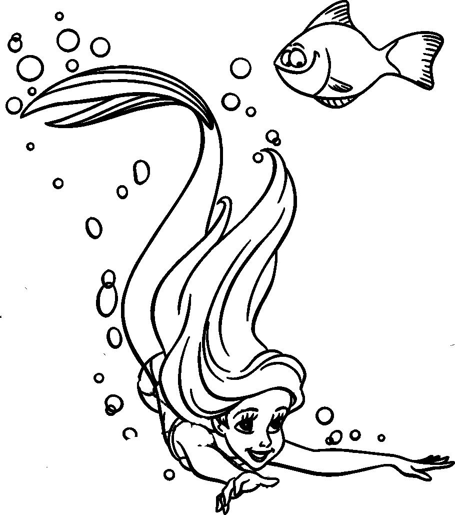 Coloriages À Imprimer : La Petite Sirène, Numéro : 6390 à Dessin Ariel La Petite Sirene A Imprimer