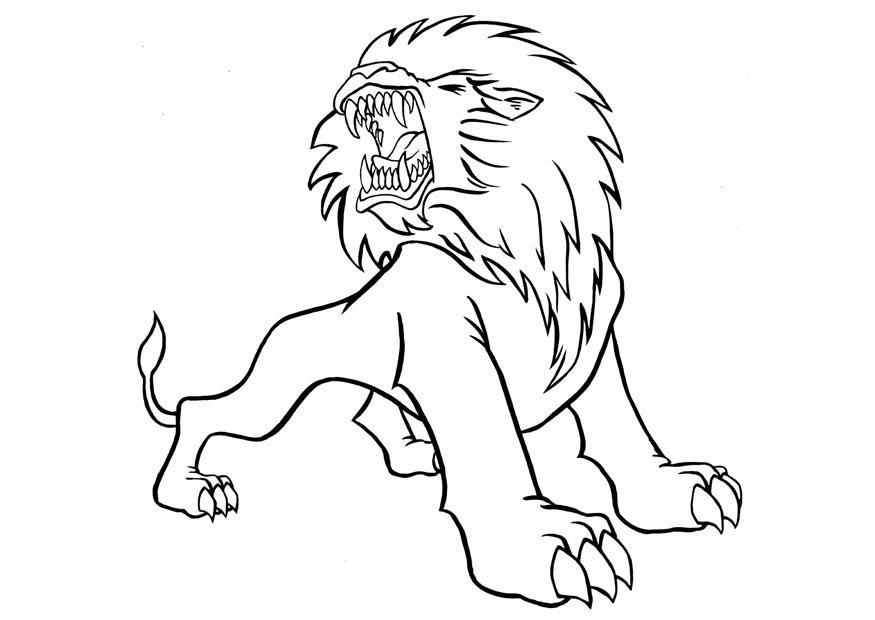 Coloriages À Imprimer : Lion, Numéro : 23907 concernant Lion A Colorier