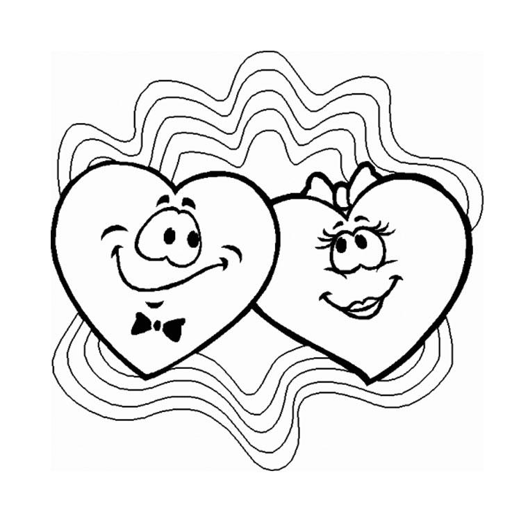 Coloriages À Imprimer : Saint-Valentin, Numéro : 379 avec Dessin D Amitié