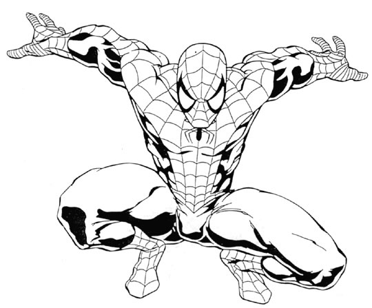 Coloriages À Imprimer : Spiderman, Numéro : 4563 serapportantà Coloriage De Spiderman Noir