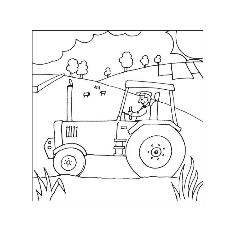 Coloriages À Imprimer : Tracteur, Numéro : 16979 destiné Coloriage De Tracteur À Imprimer