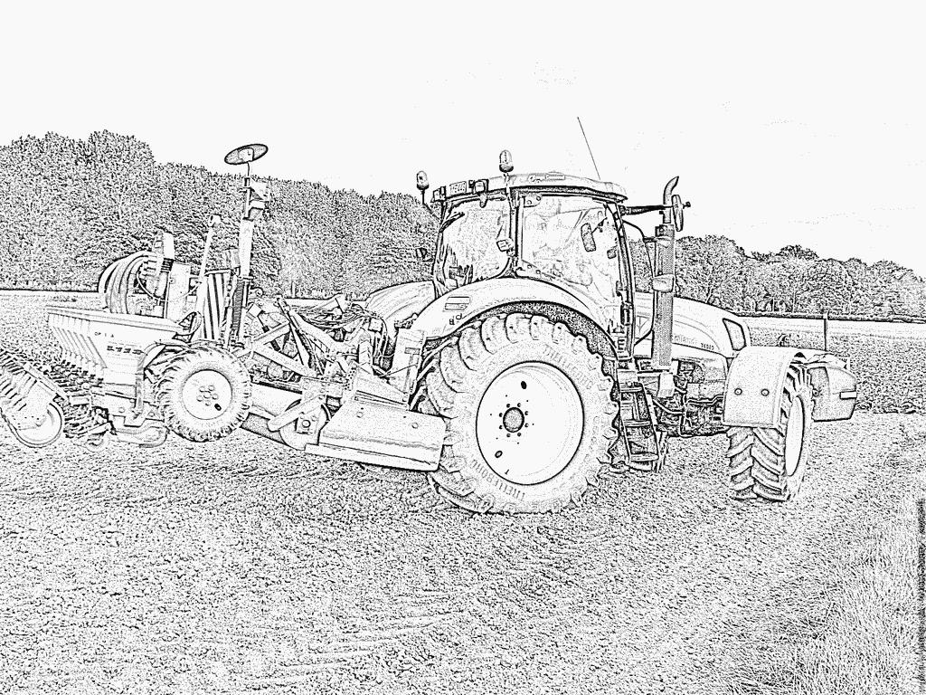 Coloriages À Imprimer : Tracteur, Numéro : 53746 concernant Tracteur A Colorier