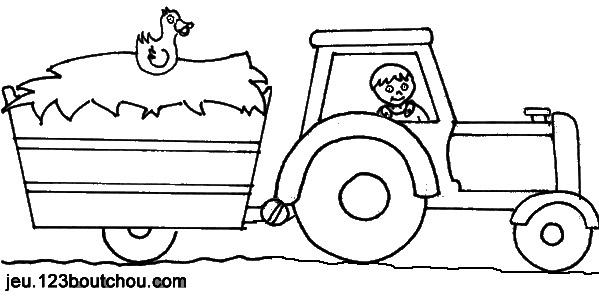 Coloriages À Imprimer : Tracteur, Numéro : 7353 pour Coloriage De Tracteur À Imprimer