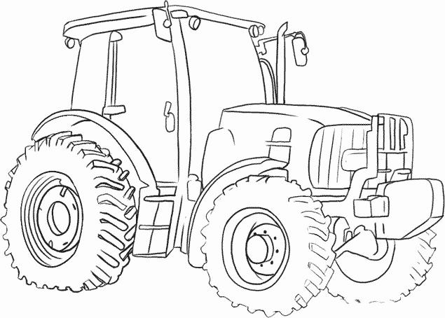 Coloriages À Imprimer : Tracteur, Numéro : 7624 tout Coloriage De Tracteur À Imprimer