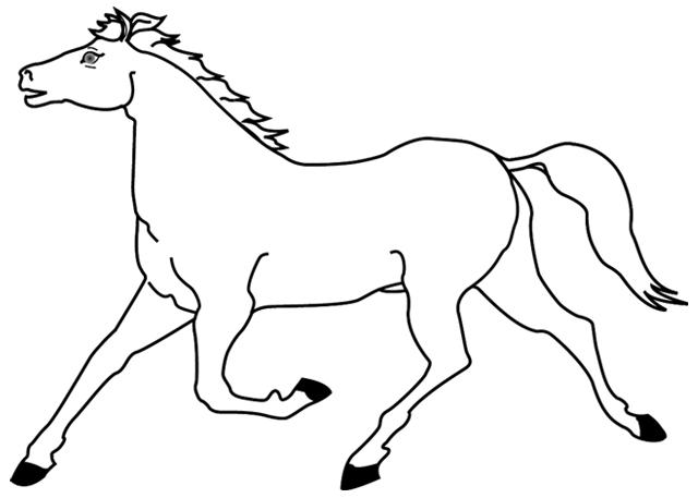 Coloriages À Imprimer, Un Cheval, Dessin 1 - Turbulus dedans Dessin À Imprimer De Chevaux