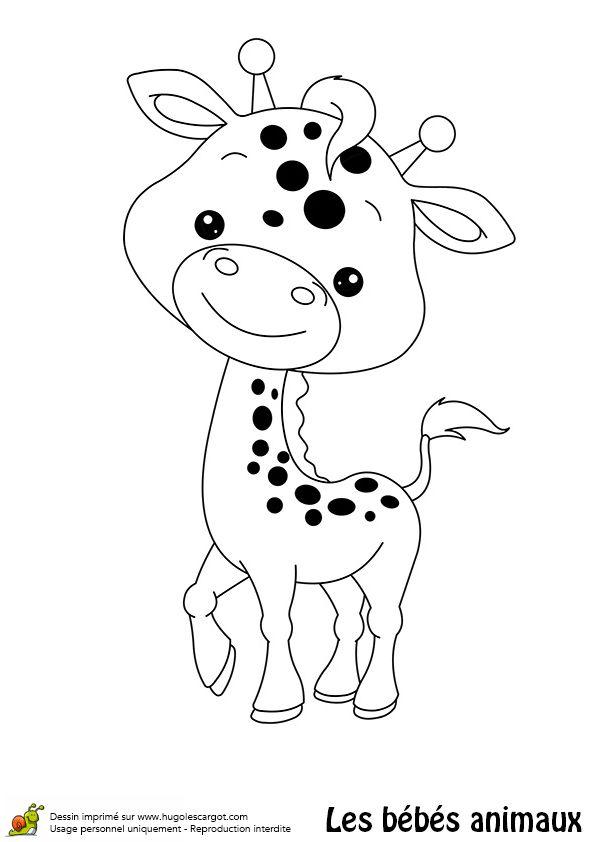 Coloriages Animaux   Girafe Dessin, Coloriage Animaux Et avec Dessin D Animaux Trop Mignon