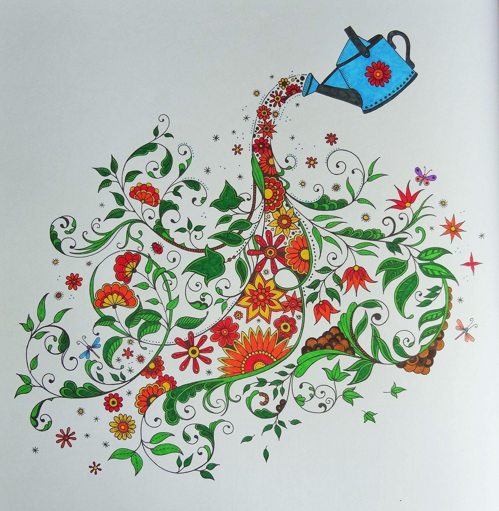 Coloriages Art Thérapie | Coloriage Jardin Secret, Jardin dedans Marabout Coloriage
