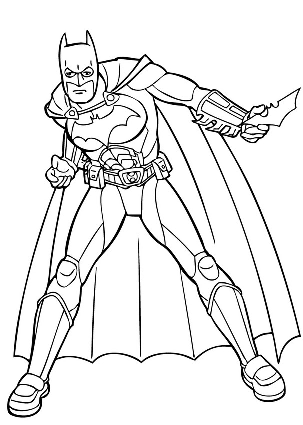 Coloriages Batman Et Ses Gadgets - Fr.hellokids serapportantà Coloriage Batman