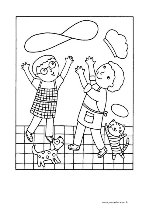 Coloriages - Chandeleur – Maternelle – Grande Section – Gs destiné Coloriage Chandeleur