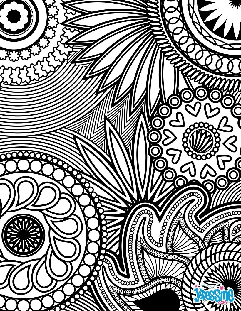 Coloriages Coloriage Anti-Stress - Fr.hellokids serapportantà Coloriage Mandala Anti Stress