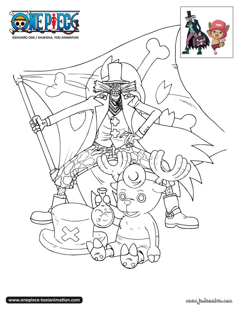 Coloriages Coloriage Chopper Et Le Docteur Hiluluk - Fr pour Coloriage One Piece A Imprimer