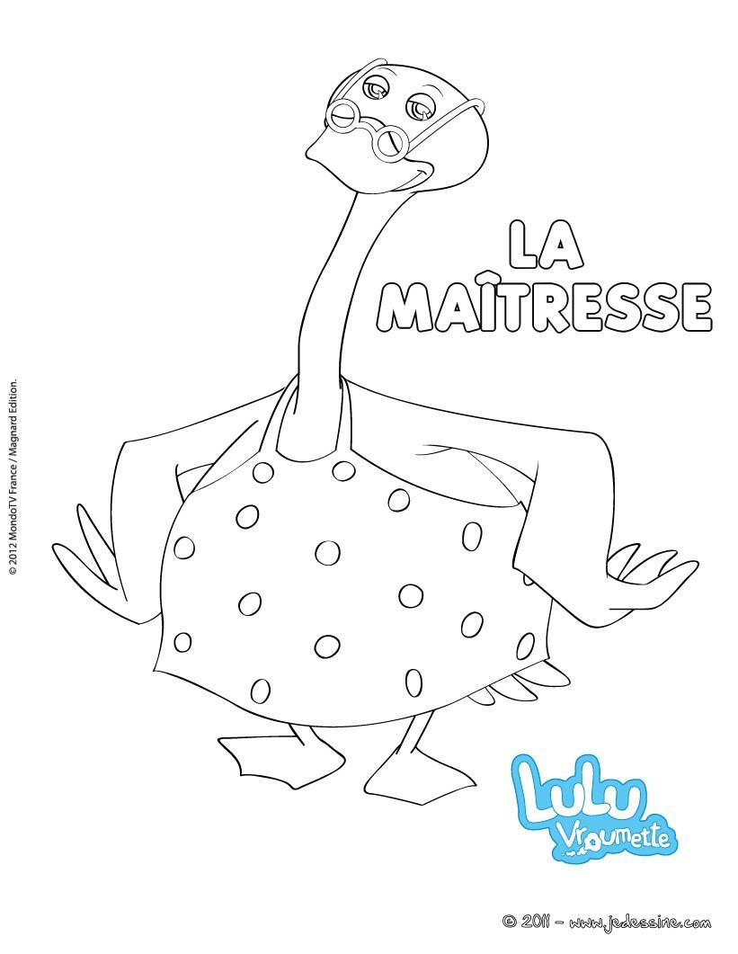 Coloriages Coloriage De La Maitresse - Fr.hellokids dedans Dessin Maitresse