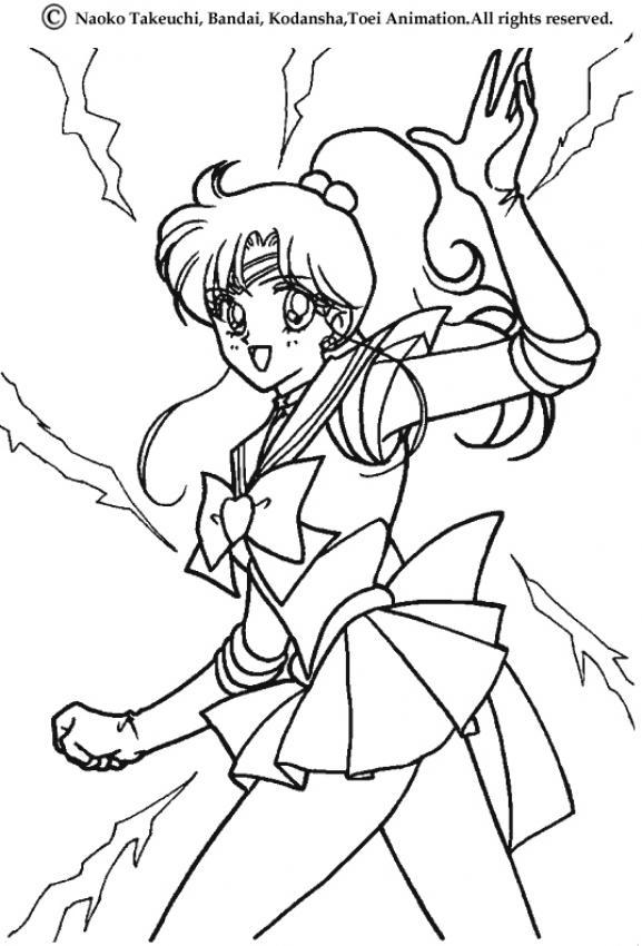 Coloriages Coloriage De Sailor Jupiter - Fr.hellokids concernant Coloriage Sailor Moon A Imprimer