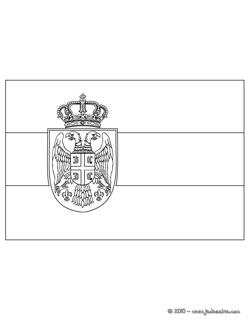 Coloriages Coloriage Du Drapeau De La Serbie - Fr encequiconcerne Drapeau Brésil À Colorier