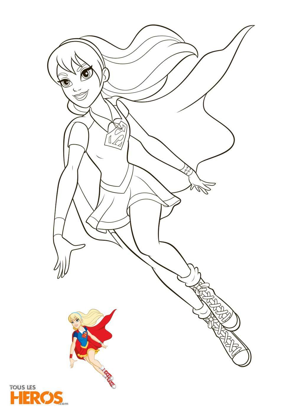 Coloriages Dc Super Hero Girls À Imprimer Gratuitement avec Coloriage Super Hero