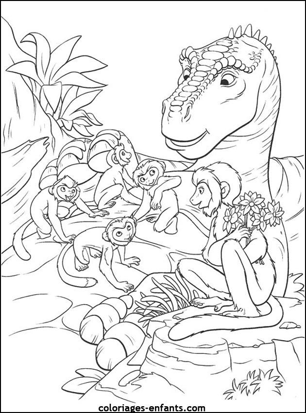 Coloriages De Dinosaures avec Dinausore Coloriage