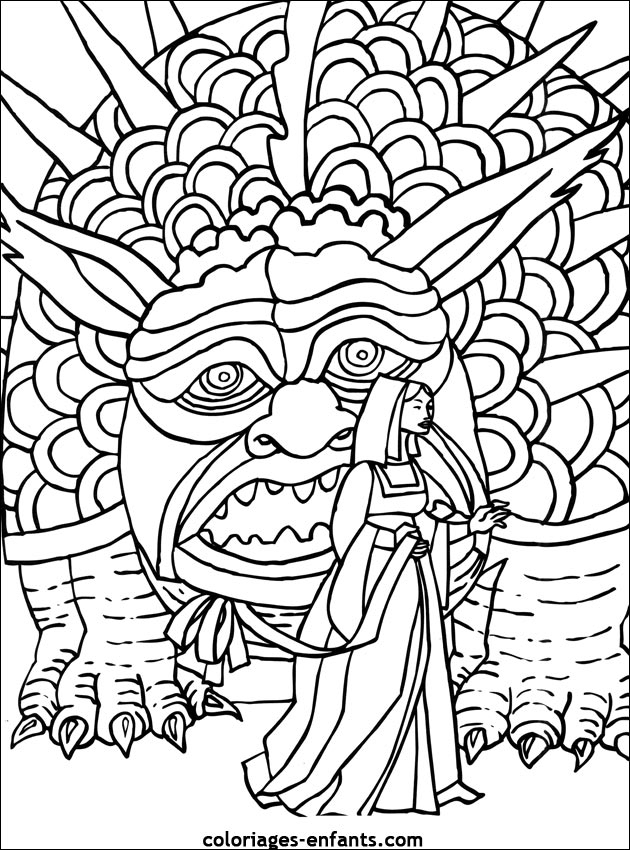 Coloriages De Dragons Chinois – Kewlfr à Coloriage Dragon Chinois
