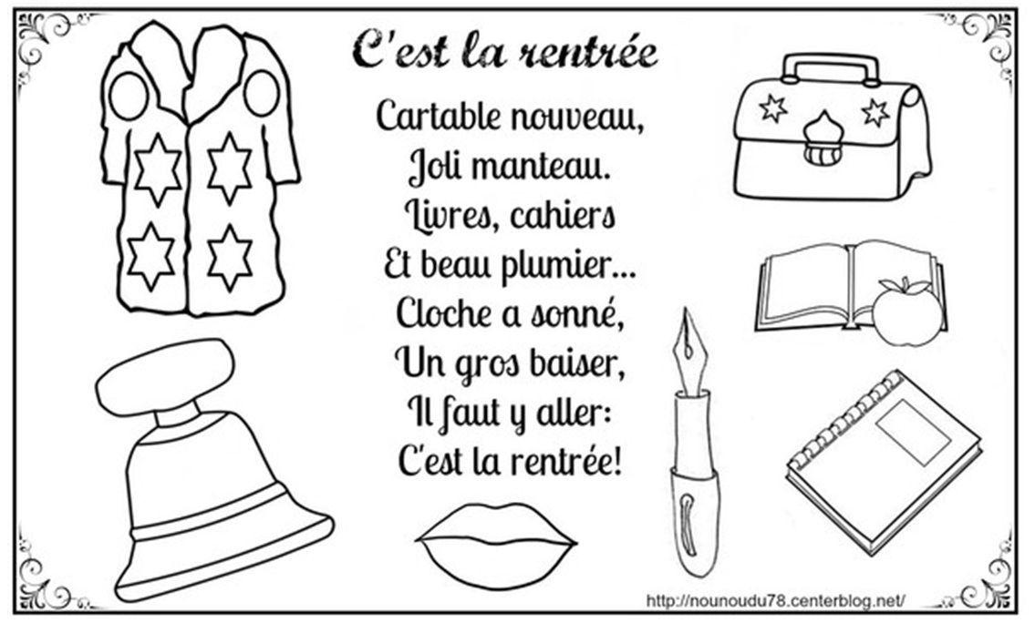 Coloriages De La Rentree concernant Coloriage Rentr?E Maternelle
