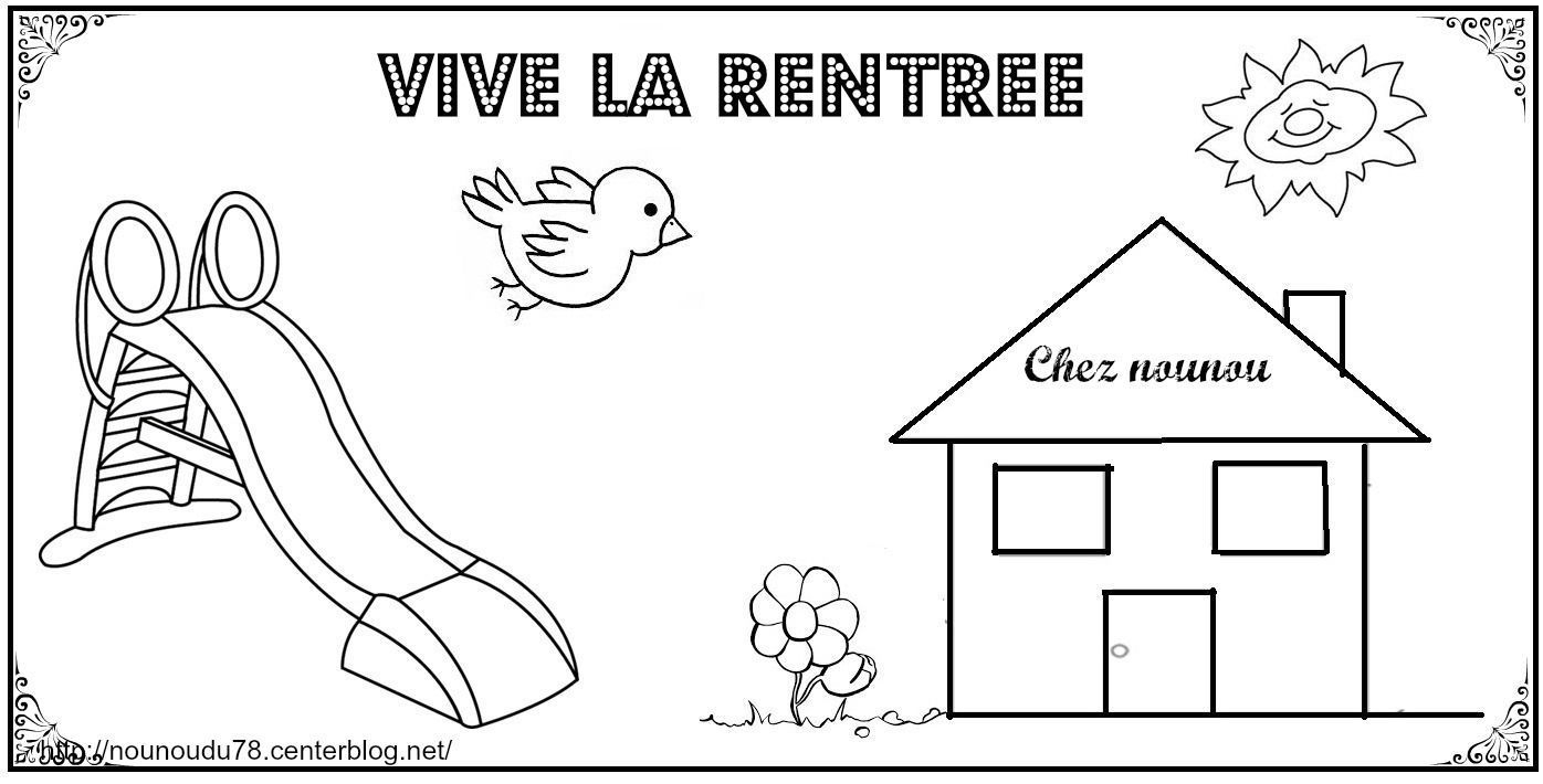 Coloriages De La Rentree tout Coloriage Rentr?E Des Classes