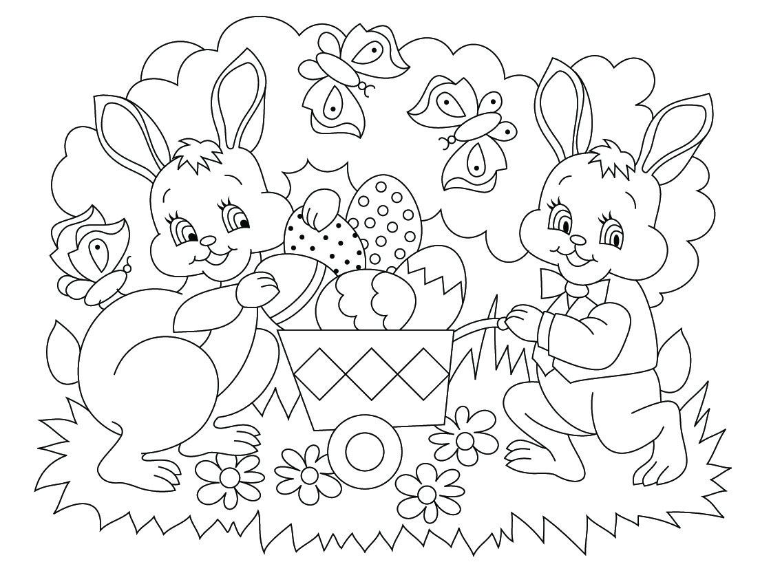 Coloriages De Pâques - Images, Dessins De Pâques À à Coloriage À Imprimer Joyeuses Pâques