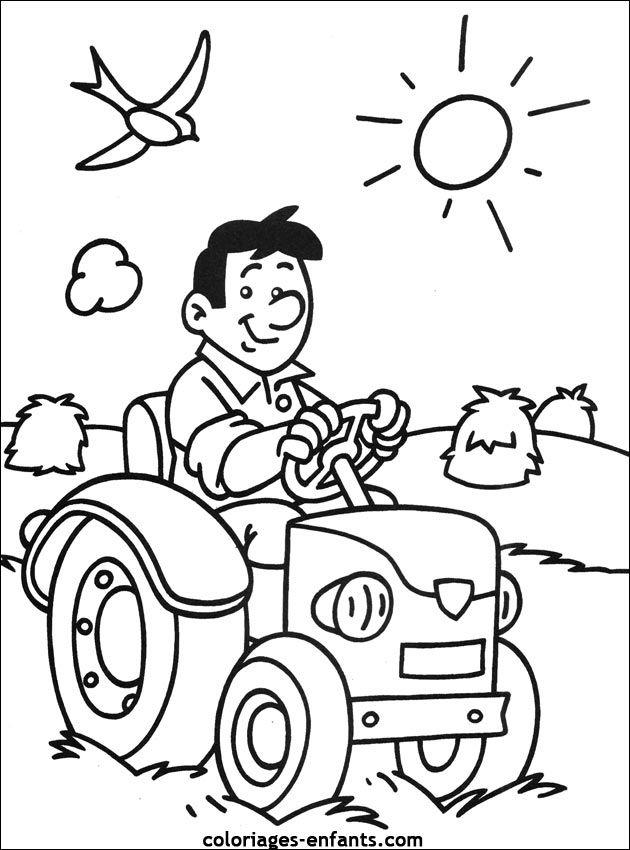 Coloriages De Tracteur | Coloriage, Coloriage Ferme intérieur Imprimer Coloriage
