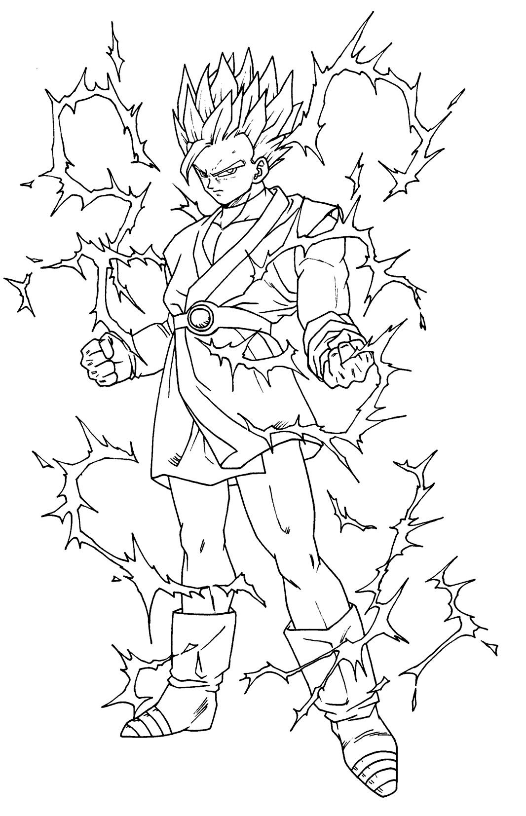Coloriages Dragon Ball Z 4 - Coloriage Dragon Ball Z dedans Coloriage Dragon Ball Z Sangoku