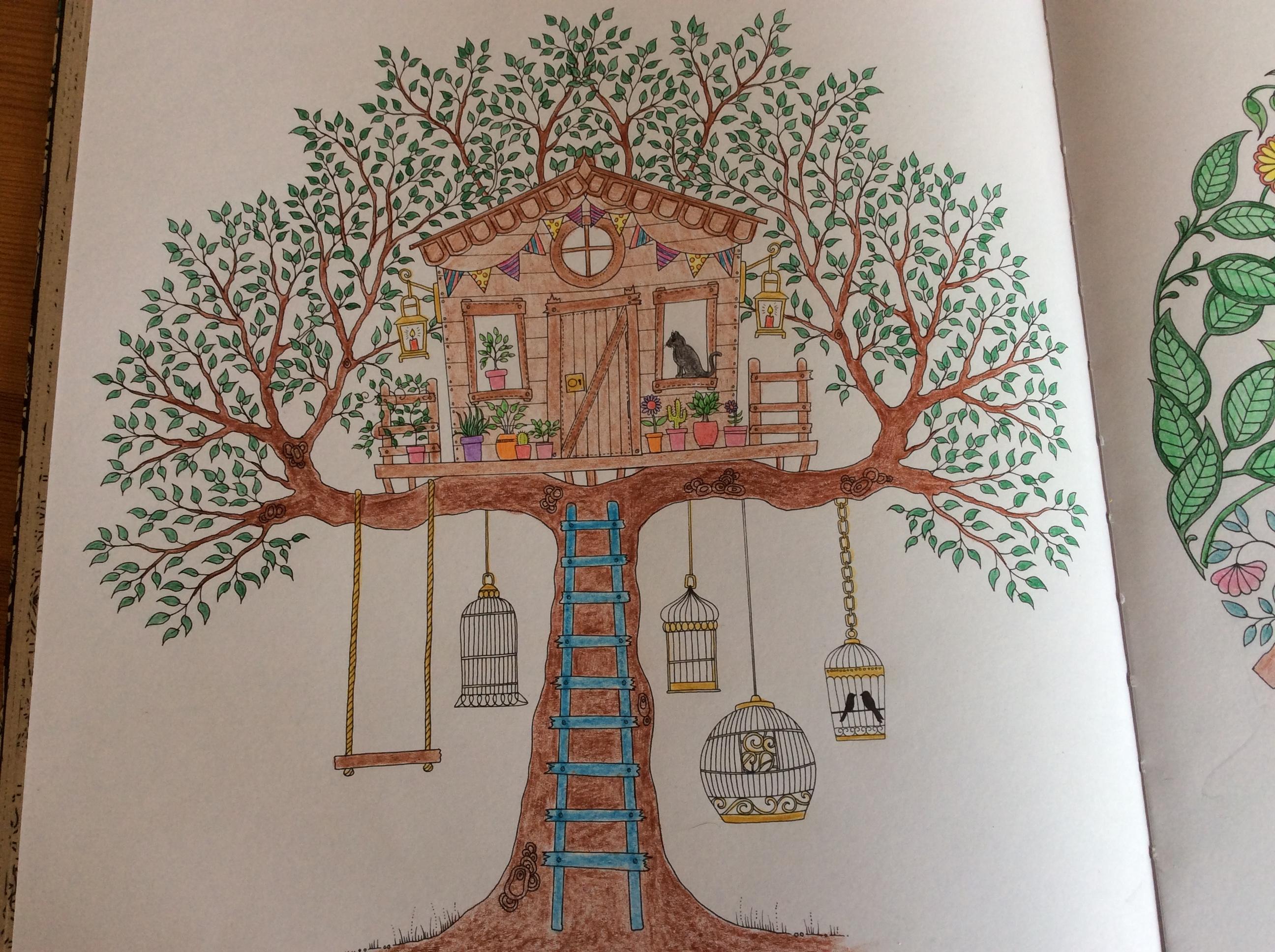 Coloriages Et Petites Créations » Cabane Dans Un Arbre à Dessin De Petite Maison