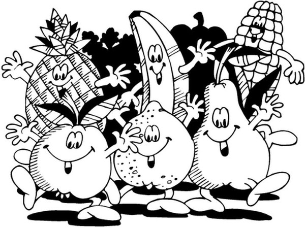 Coloriages Fruits Et Legumes encequiconcerne Coloriage Fruits Et Legumes